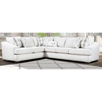 Picture of CELADON CANVAS SECTIONAL