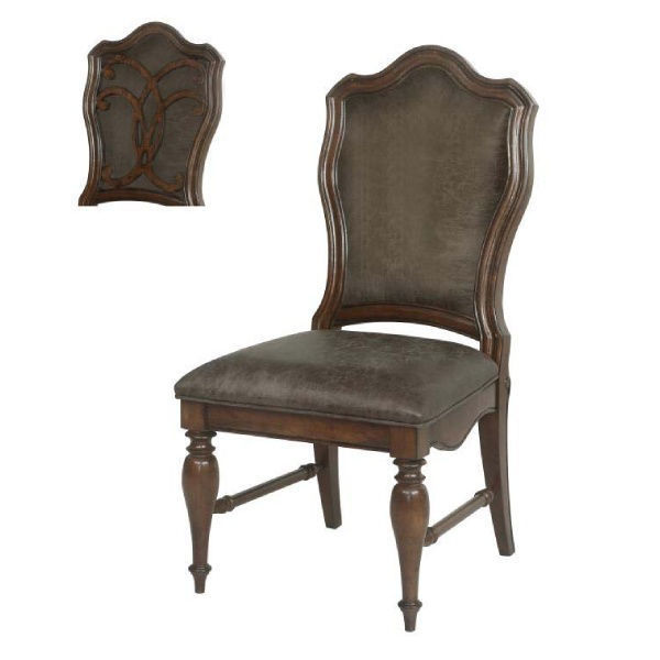Picture of OPULENCE BROWN DINING SIDE CHAIR - D430