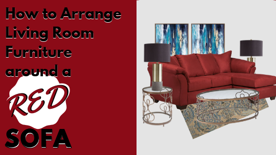 How to Arrange Living Room Furniture Around a Red Sofa